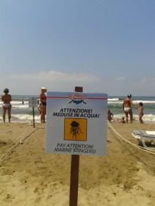 Rescue Italia_Cartello meduse spiaggia