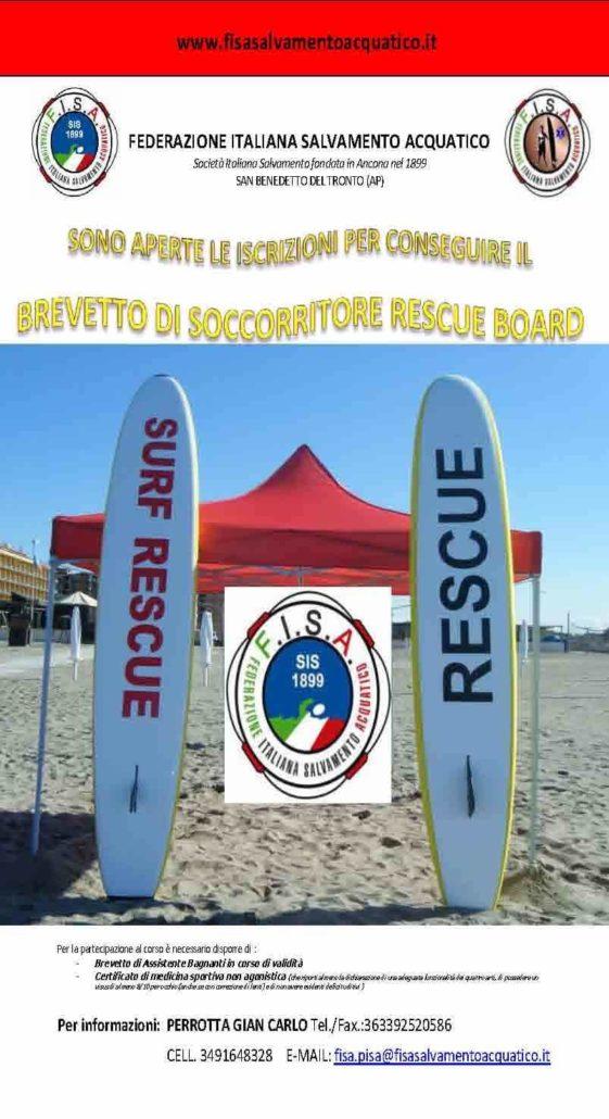 Rescue Italia_Corso Rescue Board a Livorno